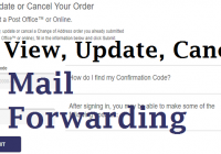 Modify USPS Mail Forwarding