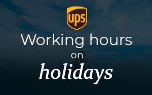 UPS holiday Hours